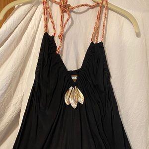 Black tank top dress shirt